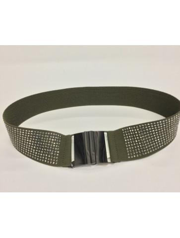 Khaki elastic belt