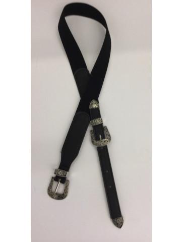 Elastic black belt with...