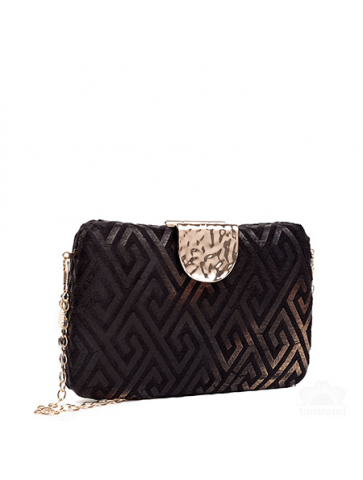 Clutch in velvet effect...