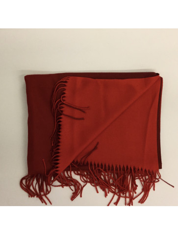 Double-sided red pashmina
