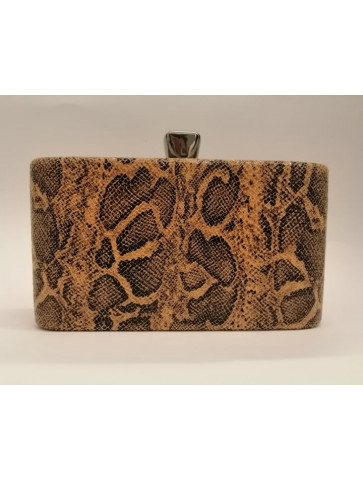 Faux snake-skin bag.