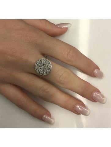 Dark silver adjustable Ring