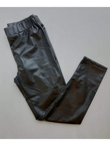 Leatherette Black Leggings