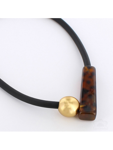 Necklace with faux...