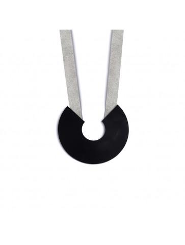 Necklace - Black Horseshoe...