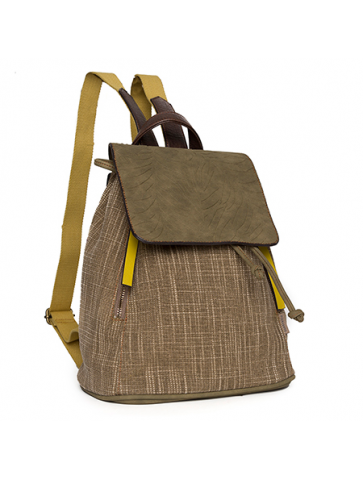 Backpack- Khaki/yellow