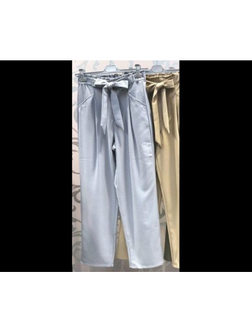 Gray-light blue trouser