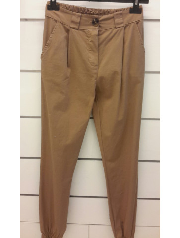 Cotton Pants - Beige color