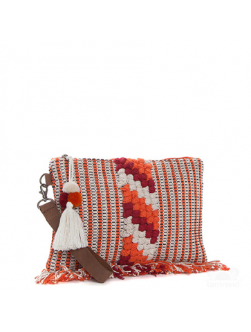 Loom weaved bag - textured...
