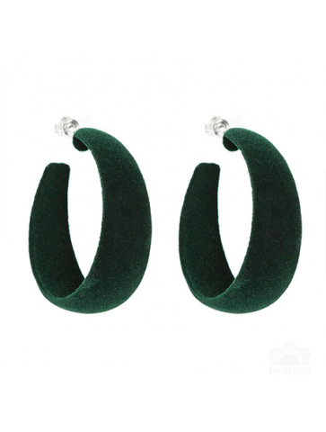 Velvet hoop Earrings