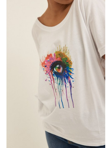 Oversized T-Shirt with eye...