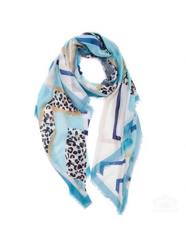 Ultra soft scarf- geometric...