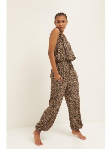 Long jumpsuit - ethnic pattern