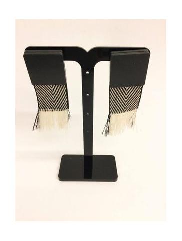 Plexiglass earrings - ribbon