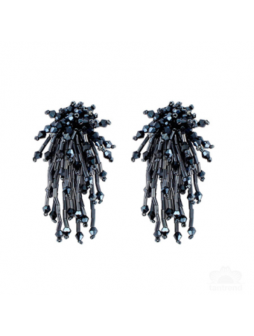 Glass tube beads Earrings.