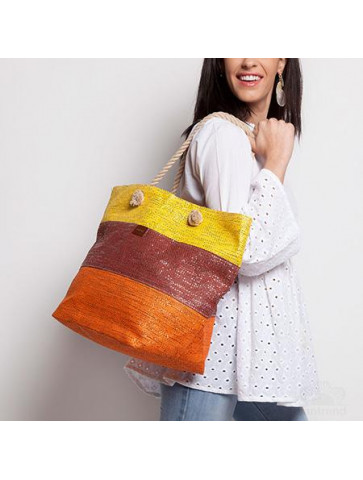 Beach bag  in colour blocks...