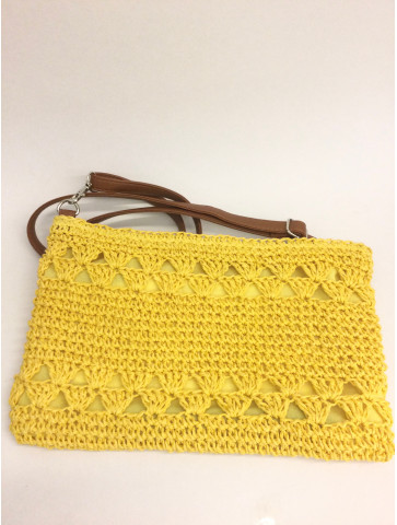 Knitted bag -Yellow color