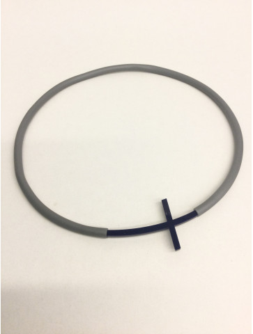 Gray rubber necklace -...