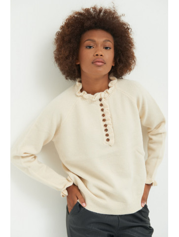 Sweater with Ruffles