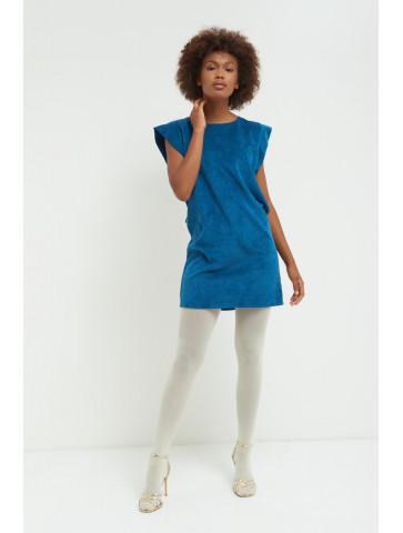 Sleeveless Ribbed velvet Dress