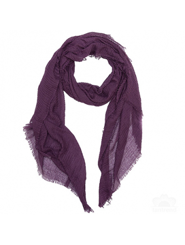Plain colour crinkled Foulard.