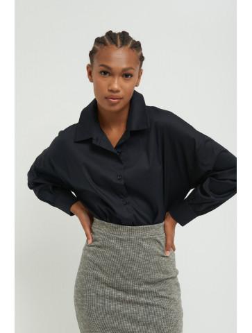Poplin shirt with oversized...