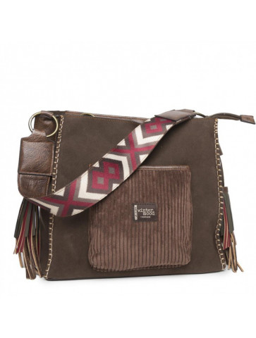 Ethnic bag in suede