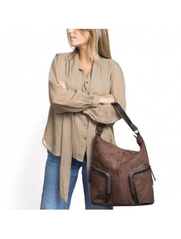 Suede Bag - two front...