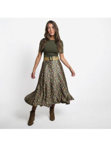 Midi length skirt - forest...