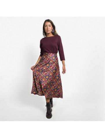 Μακριά φούστα με έντονο print
