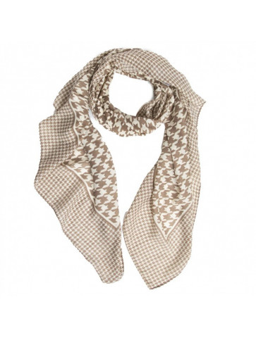 Wool touch scarf in pied de...