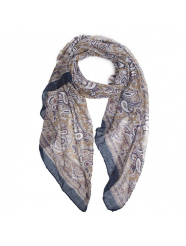 Scarf in paisley print.