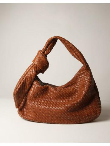 Τσάντα ώμου με κόμπο στο πλάι