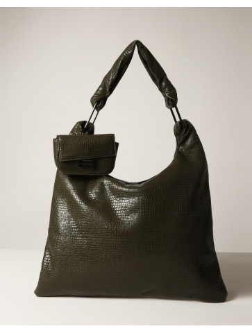 Shoulder bag with  a small bag