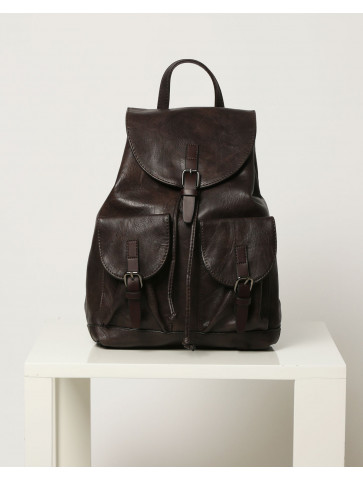 Brown Backpack - pouch