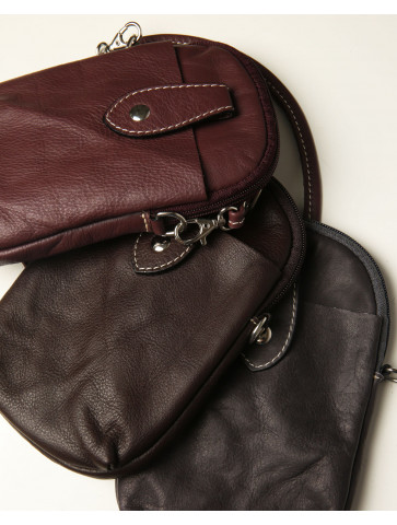 Mobile bag in genuine leather
