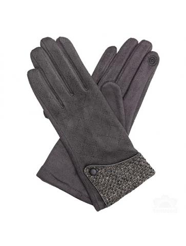 Backstitched suede Gloves