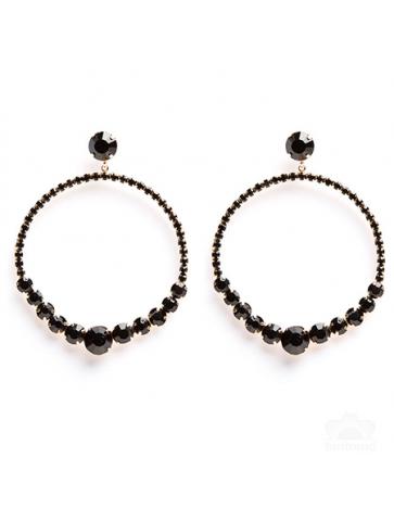 Long earrings - black...