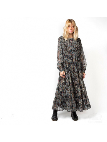 Paisley printed Long Dress
