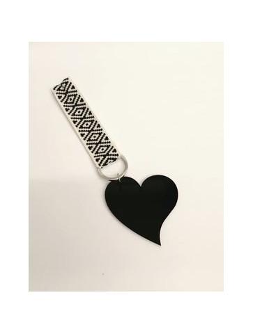 Plexiglass heart Keychain .