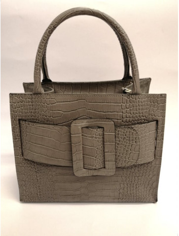Croco Leather Handbag