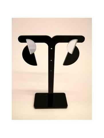 Semicircle Plexiglass Earrigs