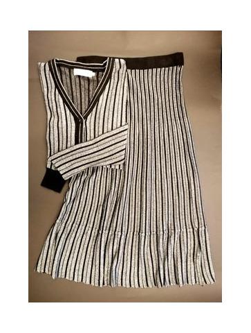 Silver-black Skirt