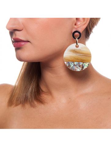 Resin and malachite Earrings