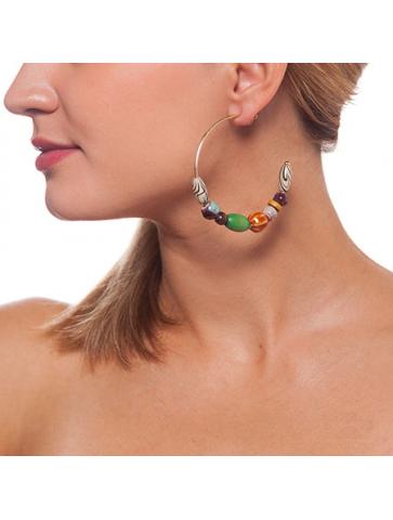 Ethnic style multi-bead...