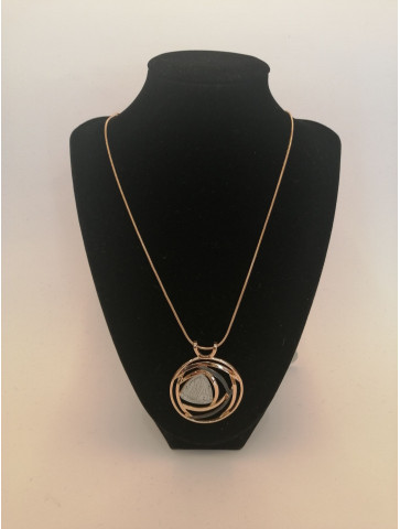 Necklace with pendant.