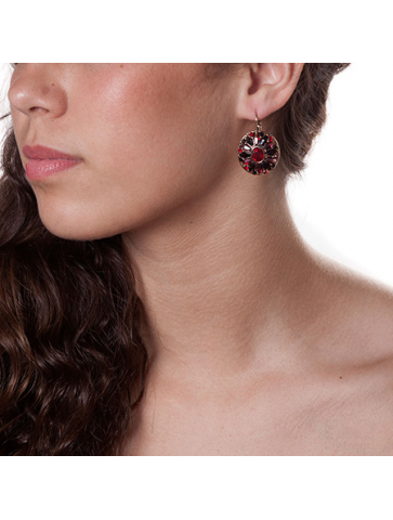 Earring with  glass crystals