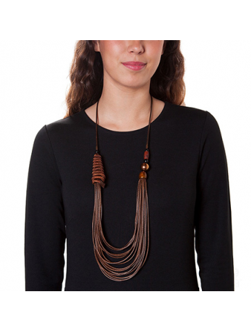 Necklace with multiple cords