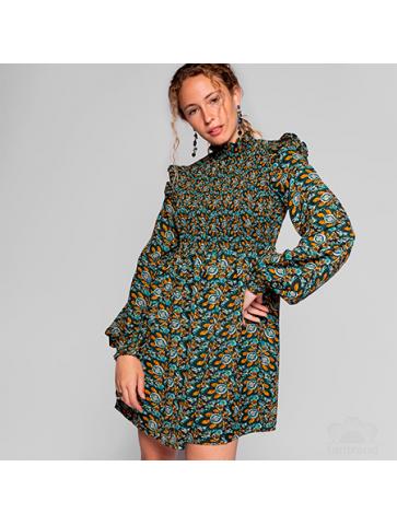 Peacock printed Short Dress