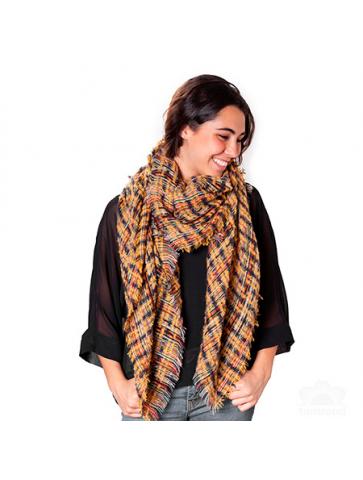 Square jacquard style blanket